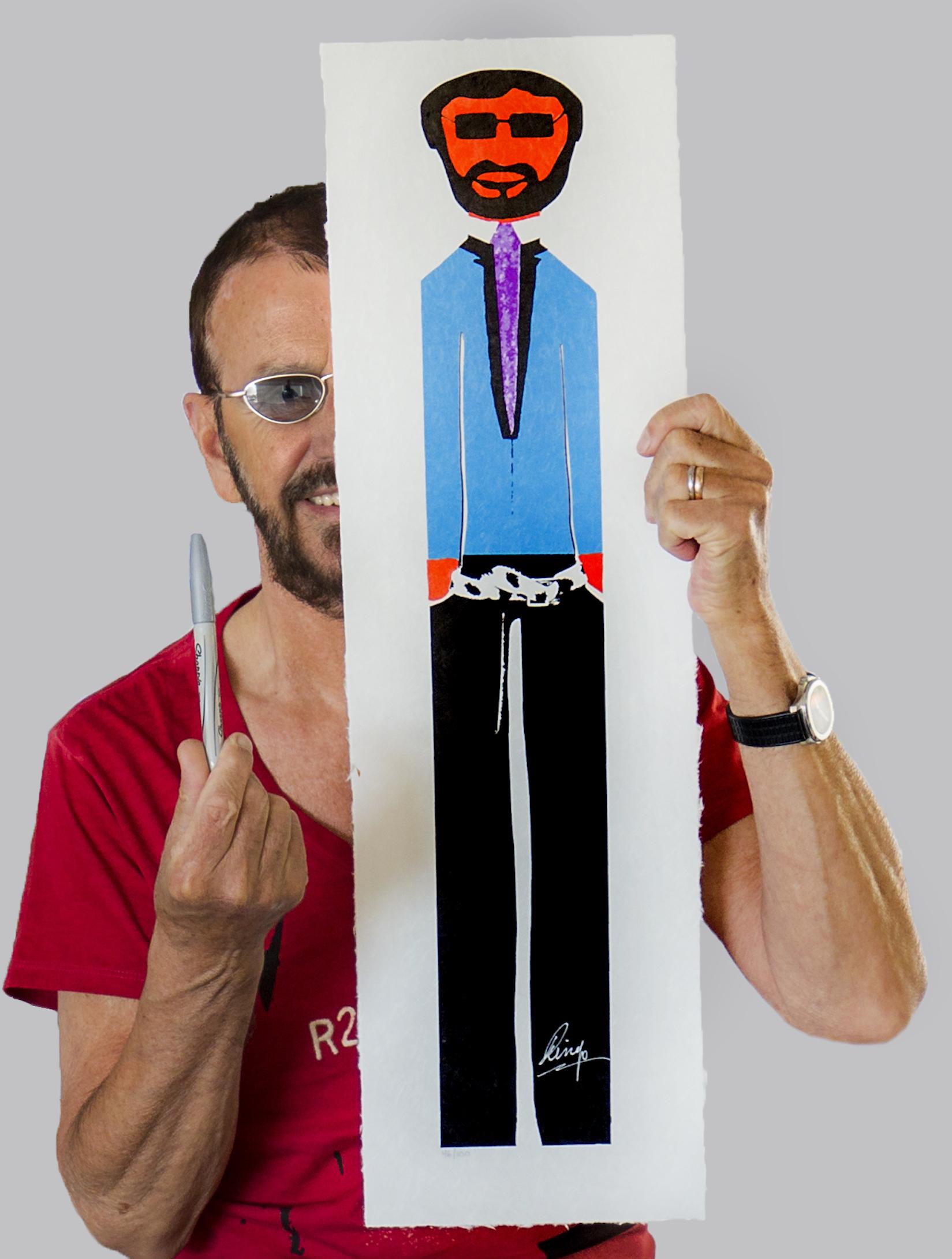 Ringo Signing Wooden Man