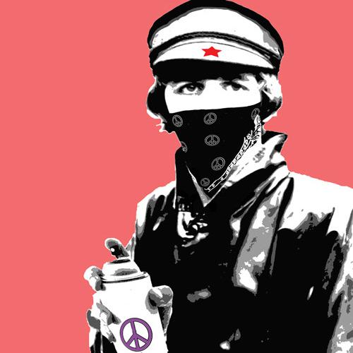 Bandana Man with Spray Can