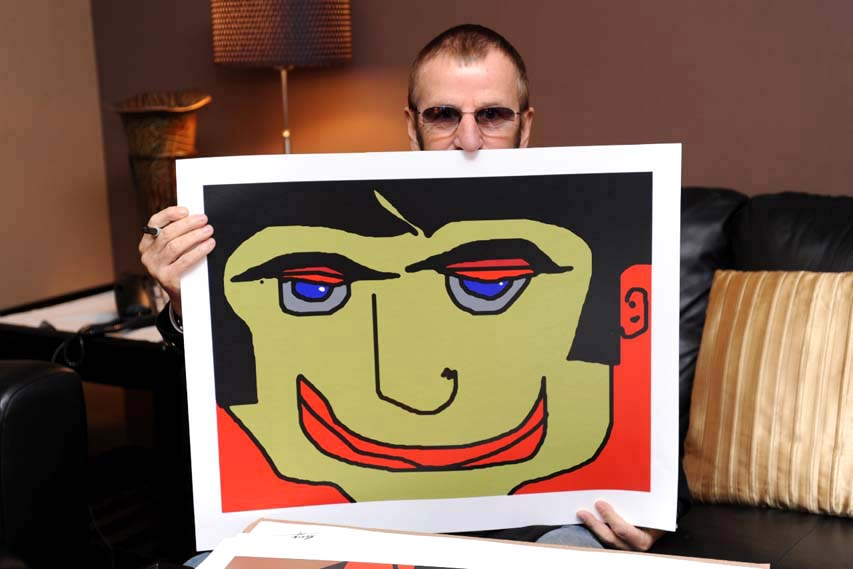 Eye Lidded Ringo Starr Art