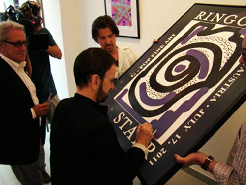 Ringo Starr signing Untitled #9
