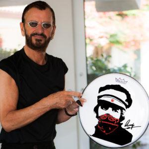 Red Bandana Drum Head