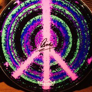 Pink Peace Drum Head
