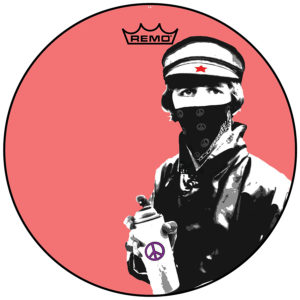 Bandana Man With Paint Can (Drum Head)