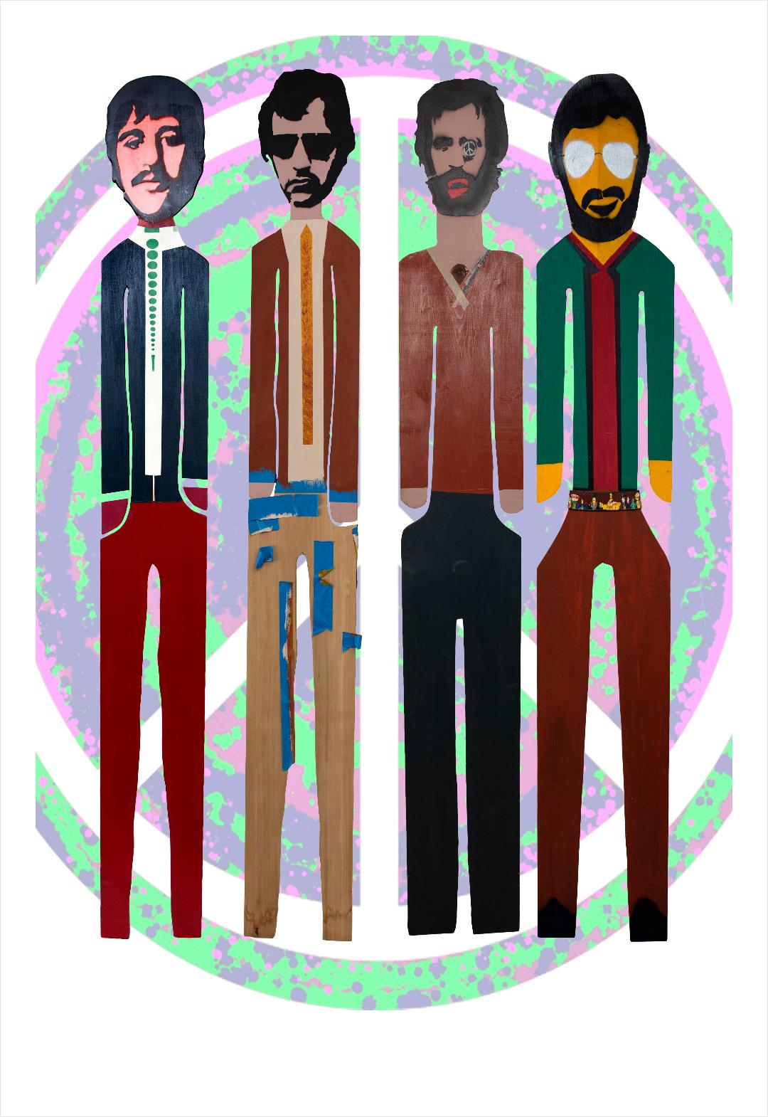 Four Wooden Men by Ringo Starr
