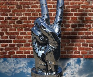 Peace Sign In Sky